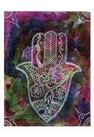 Radiant Hamsa 2 Framed Print