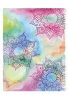 Watercolor Blooms 1 Framed Print