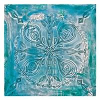 Aqua Scroll Fine Art Print