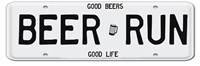 Beer Run License Plate Framed Print