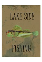 Lake Side Fishing Framed Print