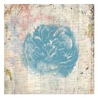 Vintage Blue Romance Framed Print