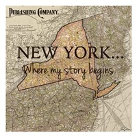 New York My Story Fine Art Print