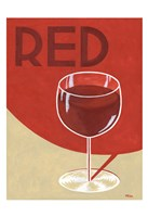 Retro Red Fine Art Print