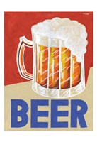 Retro Beer Fine Art Print