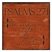 Psalms 27-1 Fine Art Print