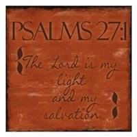 Psalms 27-1 Framed Print