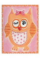 Orange Owl Fine Art Print