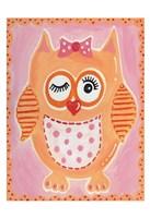 Orange Owl Fine Art Print