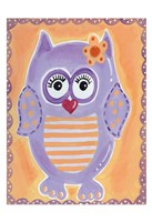Purple Owl Fine Art Print