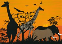 Sunset in Tsavo East Fine Art Print
