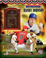 Randy Johnson MLB Hall of Fame Legends Composite Framed Print
