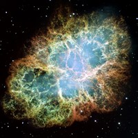 A Giant Hubble Mosaic of the Crab Nebula Framed Print