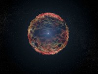 Artist's Impression of Supernova 1993J Fine Art Print