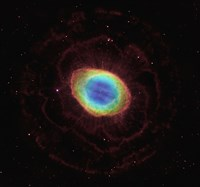 Hubble Reveals the Ring Nebula's True Shape Fine Art Print