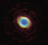 Hubble Reveals the Ring Nebula's True Shape Fine Art Print