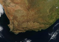 Satellite view of South Africa Fine Art Print