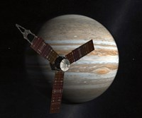 Artist's Concept of the Juno Spacecraft in Orbit around Jupiter Fine Art Print