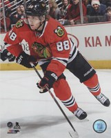Patrick Kane On The Hockey Ice Framed Print