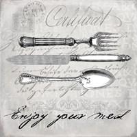 Vintage Cutlery I Framed Print
