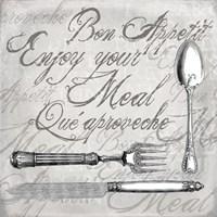 Vintage Cutlery II Framed Print