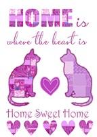 Home Sweet Home Cats I Fine Art Print