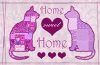 Home Sweet Home Cats II Fine Art Print