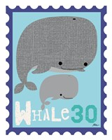 Animal Stamps - Whale Fine Art Print