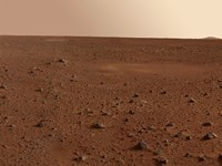 The Rocky Surface of Mars Fine Art Print
