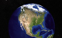 The Blue Marble Next Generation Earth Showing North America Fine Art Print