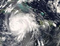 Hurricane Gustav over Jamaica Fine Art Print