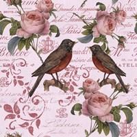 Vintage Rose Pink Pattern Fine Art Print