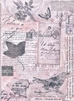 Letters and Leaves I Framed Print