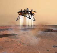 Phoenix Mars Lander Arriving on Mars Fine Art Print