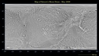 Global Map of Saturn's Moon Dione Fine Art Print