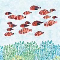 Redfish School Fine Art Print