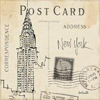 Postcard Sketches I Framed Print