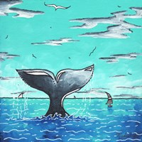 Whale Tail - Better Framed Print