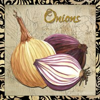 Vegetables 1 Onions Framed Print