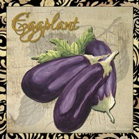 Vegetables 1 Eggplant Framed Print