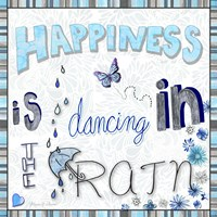 Happiness Is Dancing In The Rain - Colored In 2 Fine Art Print