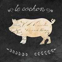 Le Cochon Cameo Sq Framed Print