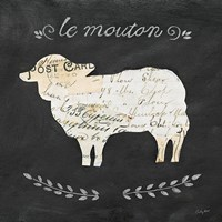 Le Mouton Cameo Sq Framed Print