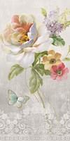 Textile Floral Panel II Fine Art Print
