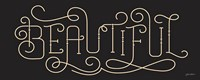 Curly Script Beautiful Thick Fine Art Print