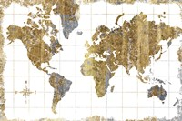 Gilded Map Fine Art Print