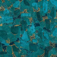 Gilded Stone Turquoise Fine Art Print