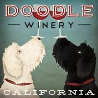 Doodle Wine Framed Print