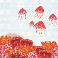 Orange Jelly Fish Fine Art Print