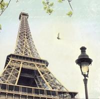 Paris Eiffel Letter Framed Print